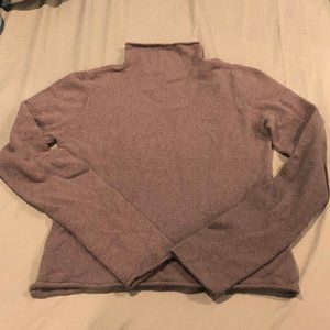 Wilfred mock neck crop sweater